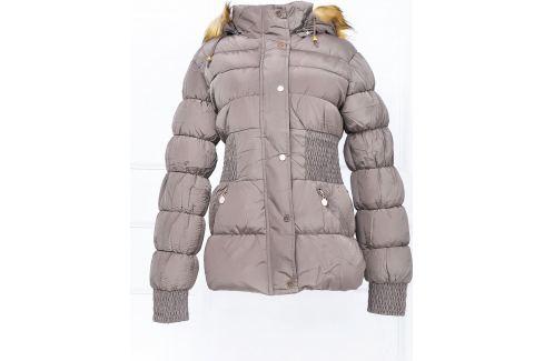 BASIC Dámská zimní kapučínová bunda - K381 Velikost: L Dámské bundy a kabáty