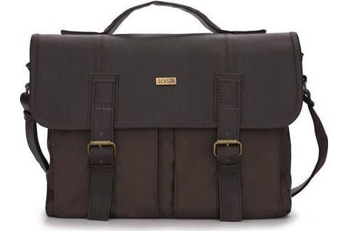 PÁNSKÁ HNĚDÁ TAŠKA SOLIER (S14 BROWN/BROWN) Velikost: univerzální Pánské tašky