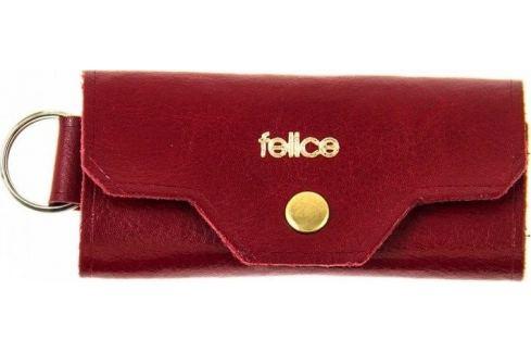 FELICE Kožené pánské pouzdro na klíče SOLIER (FA11 RED) Velikost: univerzální Pouzdra