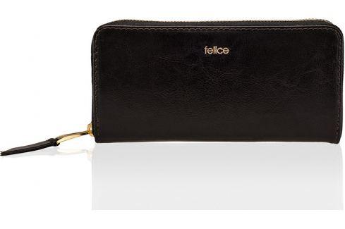 SOLIER Elegantní dámská peněženka FELICE (P02 DARK BROWN GENUINE) Velikost: univerzální Peněženky