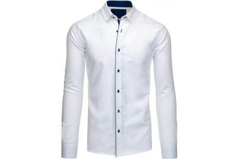 BASIC Pánská bílá košile (dx1199) Velikost: 2XL Pánské košile