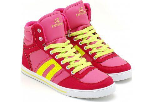 Fuchsiové tenisky 7SP4126 velikost: 38, odstíny barev: růžová Dámská obuv