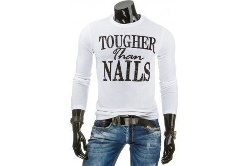 BASIC Pánské bílé tričko (lx0309) velikost: XL, odstíny barev: bílá Pánská trička
