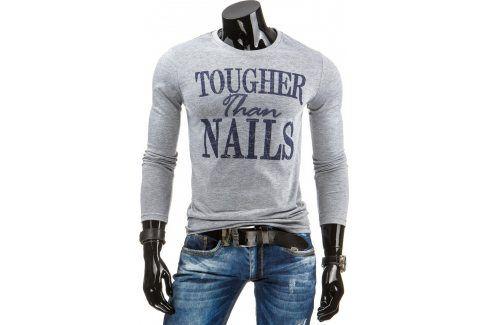 BASIC Pánské šedé tričko  (lx0310) velikost: 2XL, odstíny barev: šedá Pánská trička