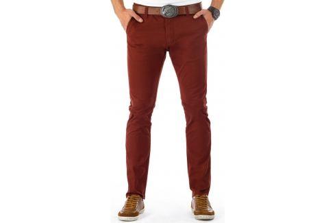 BASIC Pánské bordové kalhoty (ux0382) velikost: 31, odstíny barev: červená Pánské kalhoty