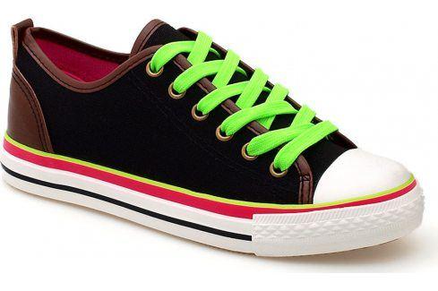 Černé tenisky SS-808 velikost: 36, odstíny barev: černá Dámská obuv