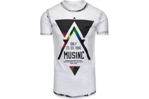 BASIC Bílé tričko MUSINC (rx1781) velikost: 2XL, odstíny barev: bílá Pánská trička