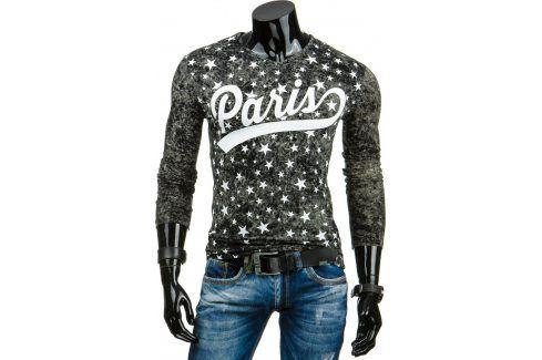 BASIC Pánské černé tričko Paris (lx0321) velikost: 2XL, odstíny barev: černá Pánská trička