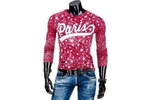 BASIC Pánské červené tričko Paris (lx0322) velikost: 2XL, odstíny barev: červená Pánská trička