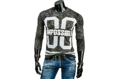 BASIC Pánské černé tričko  (lx0323) velikost: 2XL, odstíny barev: černá Pánská trička