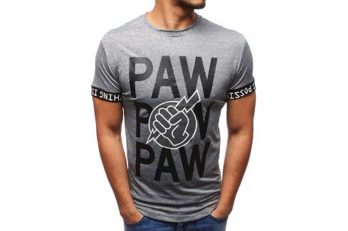 BASIC Antracitové tričko s potiskem (rx1902) velikost: 2XL, odstíny barev: šedá Pánská trička