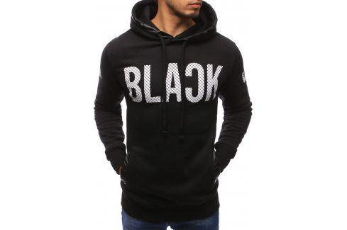 BASIC Pánská černá mikina (bx1277) velikost: L, odstíny barev: černá Pánské mikiny