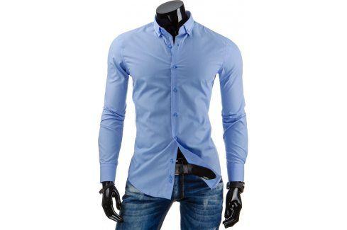 BASIC Pánská světle modrá mošile (dx0861) velikost: 2XL, odstíny barev: modrá Pánské košile