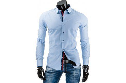 BASIC Pánská světle modrá košile (dx0917) velikost: 2XL, odstíny barev: modrá Pánské košile
