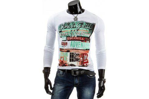 BASIC Pánské tričko s dlouhým rukávem (lx0290) velikost: 2XL, odstíny barev: bílá Pánská trička